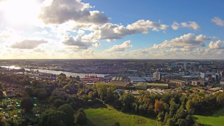 Across Ipswich, Waterfront and wet dock - photo by Andrew Mortimer