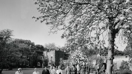 Members of Diss & District Horticultural Society visiting Thelverton Hall in 1960. Picture: EDP Libr