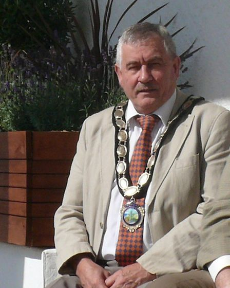 Jack Robertson, mayor of Frinton and Walton (left), and town and district councillor Nick Turner.