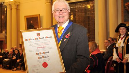 Former MP, mayor and council leader Sir Bob Russell has been made the High Steward of Colchester, th