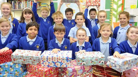 Children at St Mary's Primary School in Hadleigh have been putting together presents for Operation C