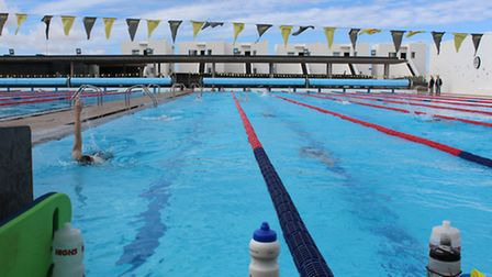 West Suffolk SC swimmers on their warm weather training camp in Lanzarote