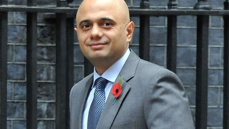 Business, Innovation and Skills Secretary, Sajid Javid, arrives for a cabinet meeting at 10 Downing