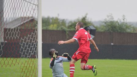 Adam Mills scored a wonderful goal for Needham against Billericay on Tuesday evening