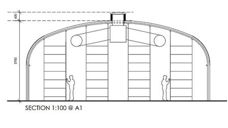 An impression of one of the new growng tunnels planned for Tas Valley Mushrooms at Flordon, near Lon