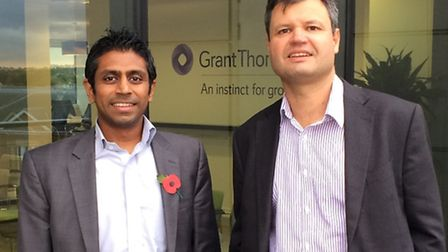 Nehal Patel, left, and Tim Blois of Grant Thornton's corporate finance team in Essex.