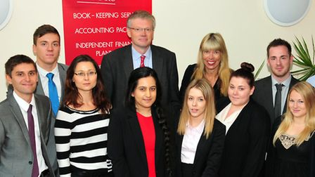 Staff Partner Fiona Hotston Moore and Bury Partner Graham Page welcome some of the new students to E