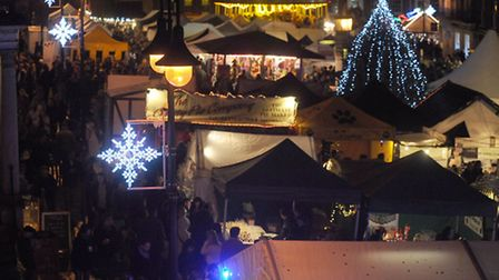 The opening night of the Christmas Fayre in Bury.