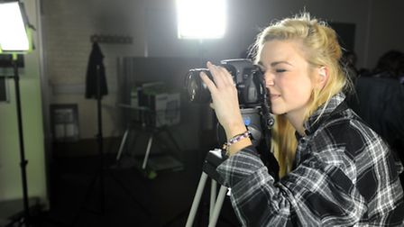 Student film maker Zoe Hambling is pictured at West Suffolk College in Bury.