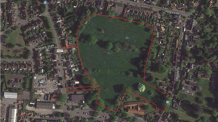 Site location plan for the proposed development of Parish Fields in Diss. Picture: Scott Property Gr