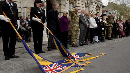 Colchester's civilian and military communities came together to mark Armistice Day.A two-minute si