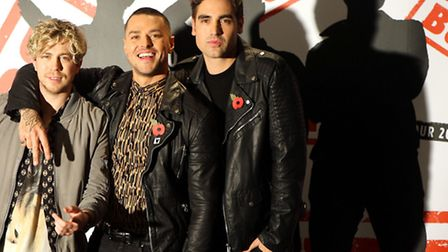(From the left) James Bourne, Matt Willis and Charlie Simpson during a photocall at the Soho Hotel i