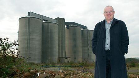 Ipswich council leader David Ellesmere at the former sugar beet factory site off Sproughton Road.