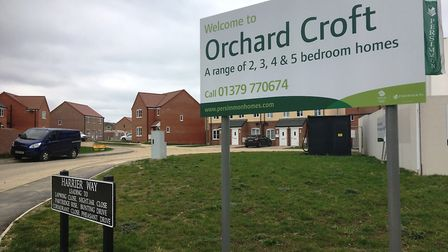 Persimmon Homes Orchard Croft development in Diss which is in one of the cheapest neighbourhoods for