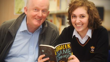 Reading champion Philip Daws, who has 'influenced the reading habits of a generation', at King Edwar