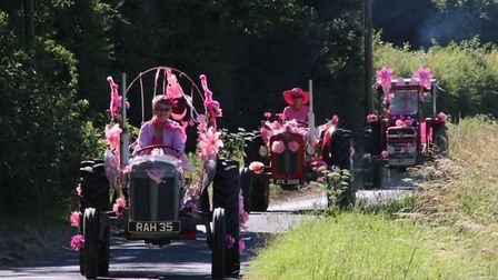 The Annual Pink Ladies Tractor Road Run. Picture: Stuart Alexander