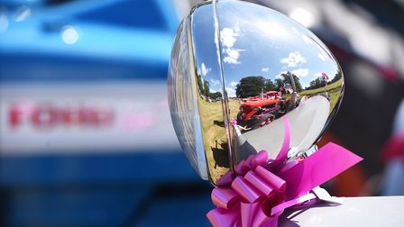The Annual Pink Ladies Tractor Road Run for Cancer Research UK.Picture: Nick Butcher