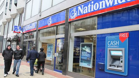 Nationwide Building Society has reported a 34% increase in pre-tax profits.