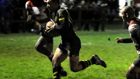 Matt Hema scores the vital try at the end of the match