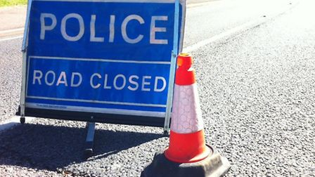 East Street in Sudbury has been closed due to a two vehicle crash