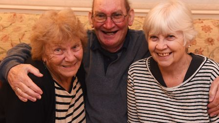 Alan Titchmarsh, wife Lesley and neighbour Janet James ( left) who are going to the Wolsey Panto th