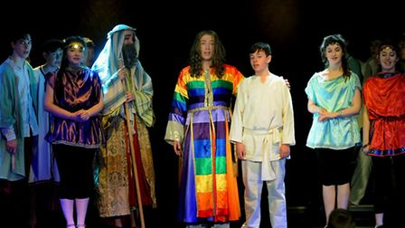 Connor Foster plays Joseph in a rousing production of Joseph and the Technicolour Dreamcoat at the K