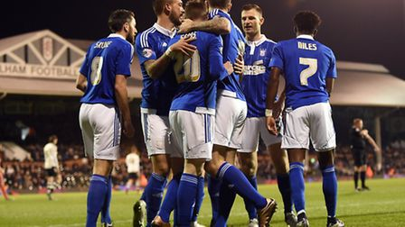 freddie sears is congratulated for scoring in the first minute at fulham last night