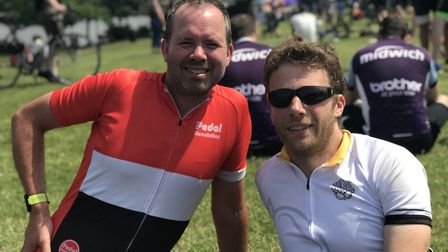 Joe Peat and Neil Stevens at the Diss Cyclathon. Picture: Ella Wilkinson