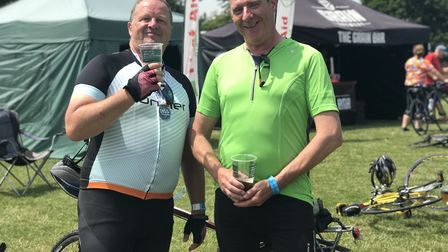 John Craven and Phil Slattery at the Diss Cyclathon. Picture: Ella Wilkinson