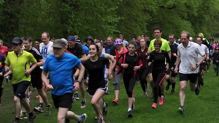Runners take part in the 100th Park Run in Notwon Park, Bury.
