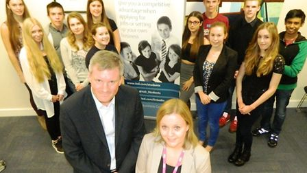 Graham Kill and Anna Birdd with One student IoD members.