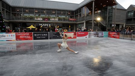 The official opening of the Ice Rink in the Arc shopping centre in Bury.