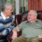 Cyril Matthews (right) has been befriended by Geoff Clarke as part of the Age UK Suffolk scheme.