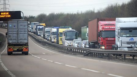 Traffic on the A14