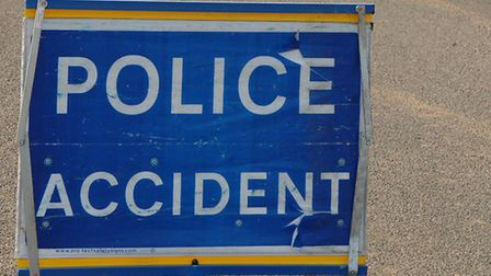 Emergency services were called to Eriswell Road, Lakenheath, following a single vehicle crash