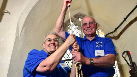 Julie Websdell has celebrated 50 years of bellringing having been first taught by her husband Herber