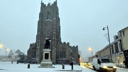 Picture-postcard winter scenes like this one in Sudbury in 2010 are unlikely this Christmas, accordi