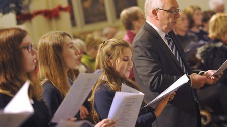 Terry Hunt sing carols at the 2015 Concert of Carols in St Mary-le-Tower Church.