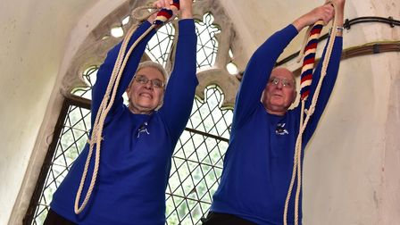 Herbert and Julie Websdell who between them have been ringing bells for 123 years. Picture: Sonya Du