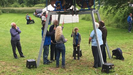 A Festival of Bells held in Starston to mark Julie Websdell 50 years of bellringing included demonst