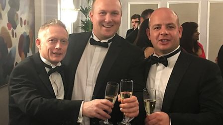 From left, David Fisher and Alex Fairfull of Suffolk Installers and Tim Smith of Tim Smith Building