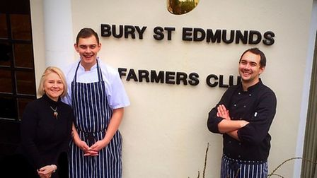 Joanna Wallace, general manager at Bury St Edmunds Farmers Club, with, Shaw Scott, chef de partie, a
