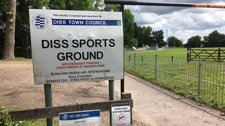 Shelfanger Road Sports Ground, which is owned by Diss Town Council. Picture: Simon Parkin