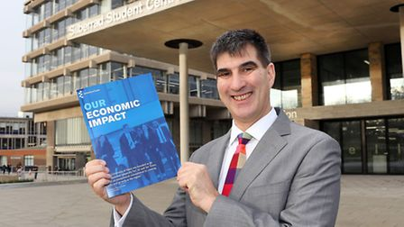 Professor Anthony Forster, vice-chancellor of the University of Essex, with the university's new eco
