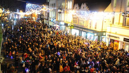 Colchester lights switch on.