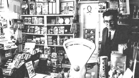 Jack Read in the general store in Market Street, Laxfield, in 1975. Picture: contributed