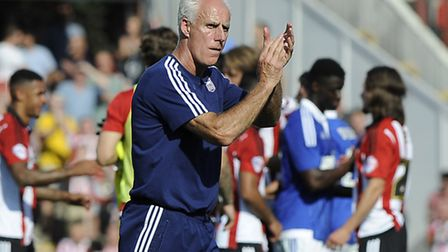 Ipswich Manager Mick McCarthy makes his way to the dressing rooms after his side surrendered a two g