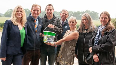 Diss Business Forum members supporting the defibrillator campaign: Kerry Kirby of Splice Creative; E