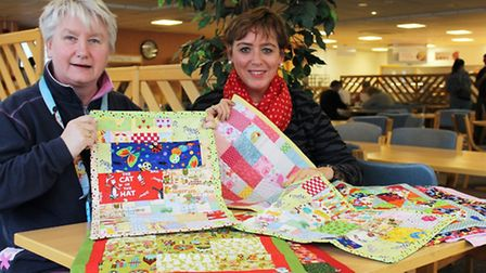 Gill Swash and Barbara Bailey with the miracle blanket