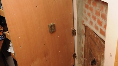 The safe at the home of James Arnold in Wyverstone, Suffolk. Photo: Suffolk Police/PA Wire